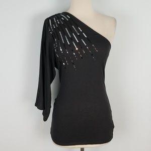 Victoria's Secret sequin one sleeve top